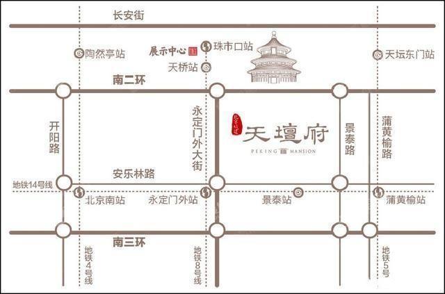北京城建天坛府位置图