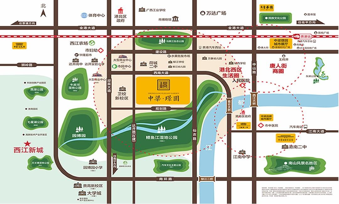 中梁·璟园位置图