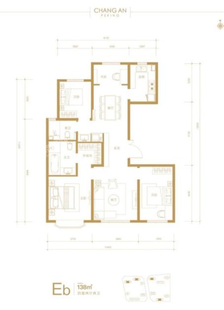 138平四室两厅两卫