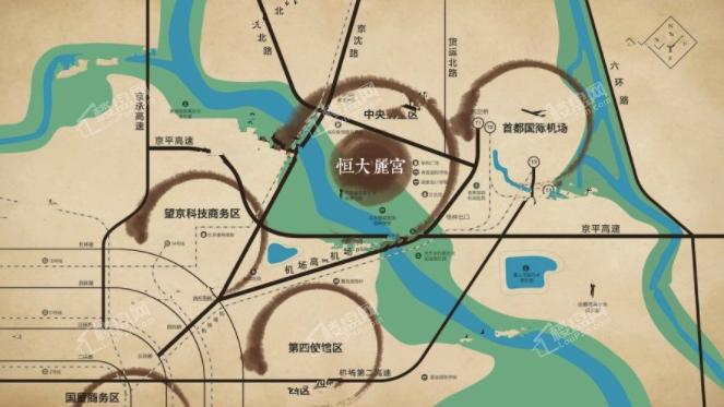 恒大丽宫位置图