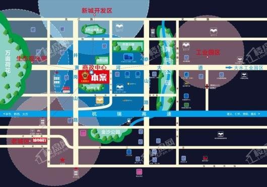 香榭豪庭交通图