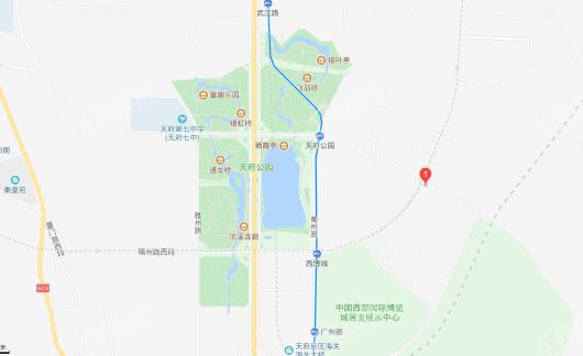 中海天府里交通图
