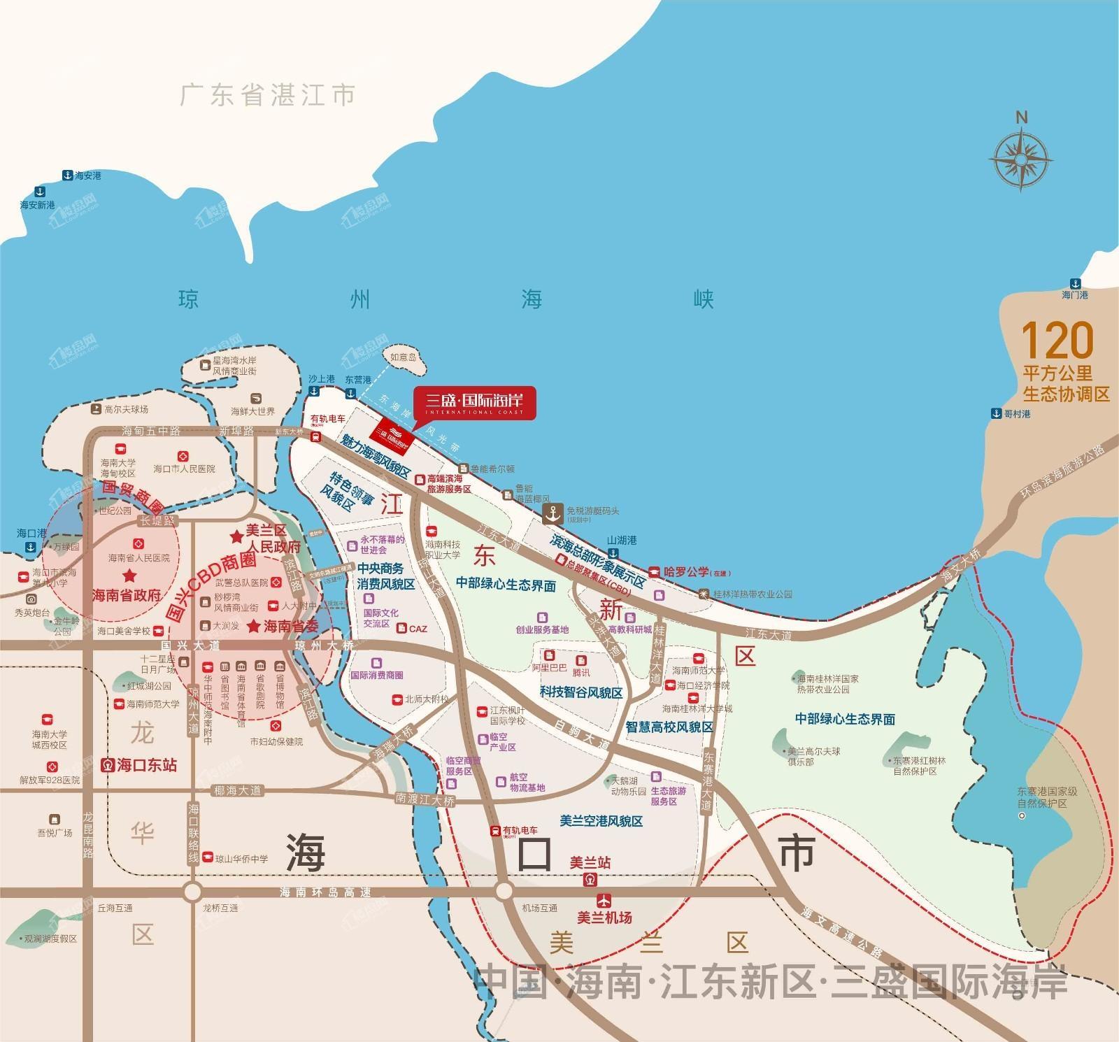 海南皇冠温泉海岸位置图