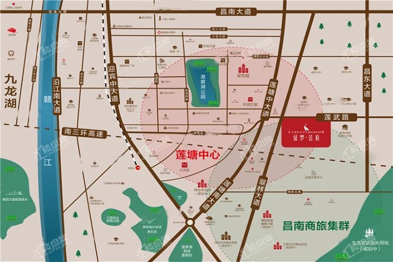 綠夢首府位置圖