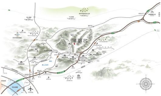 天兆·凤凰谷交通图