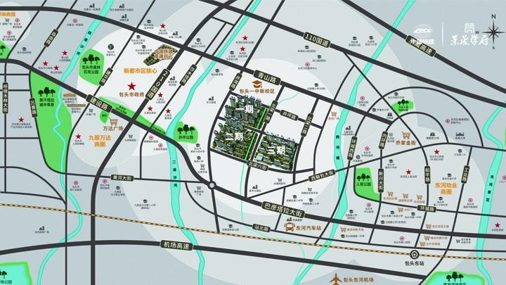 中国铁建·景晟学府位置图
