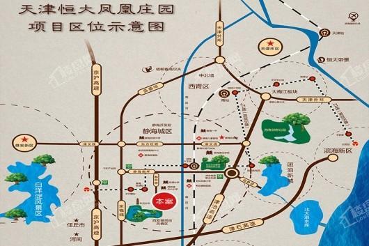 天津恒大凤凰庄园交通图