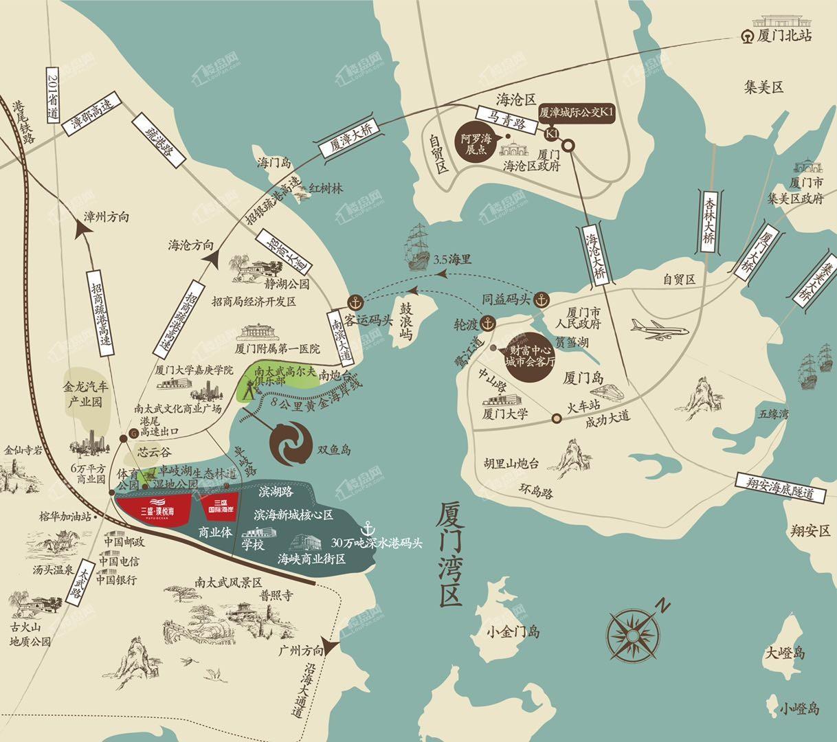 三盛璞悦海实景图
