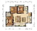 3室2厅1厨2卫领地东原阅城106.88㎡