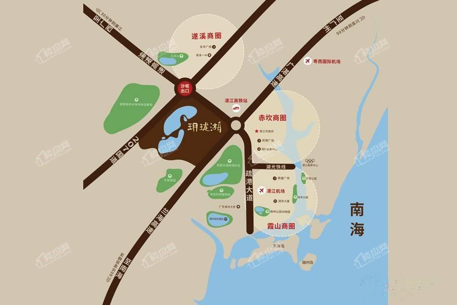华邦·玥珑湖位置图