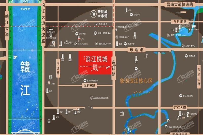 聚仁滨江悦城位置图