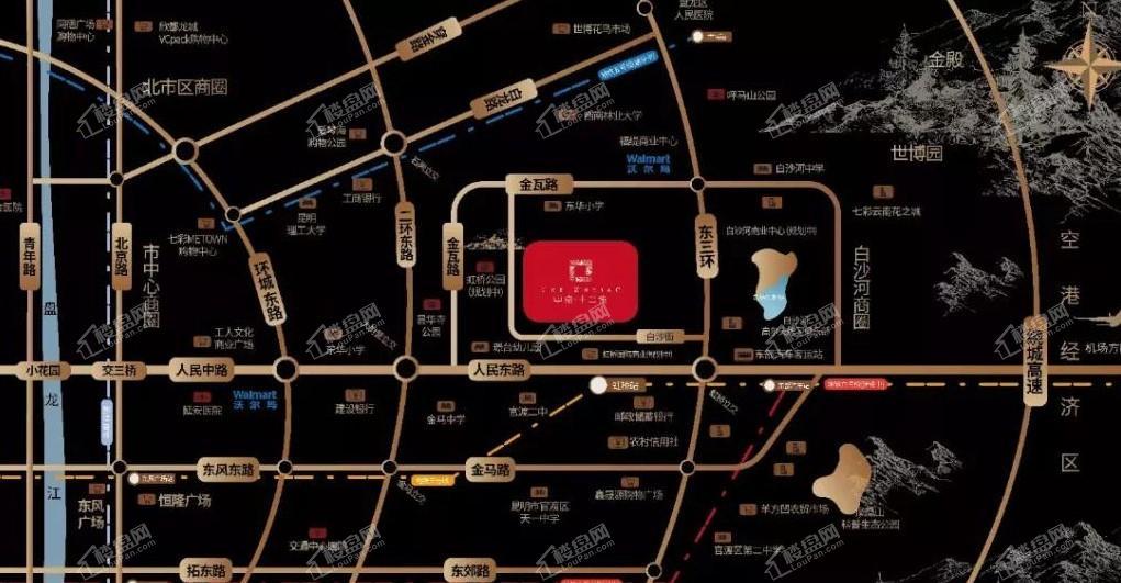 中南十二集位置图