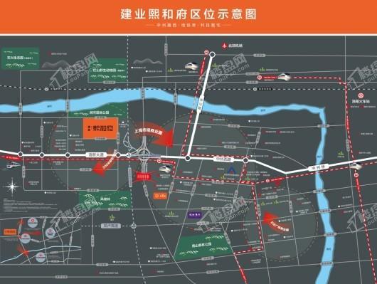 建业熙和府交通图
