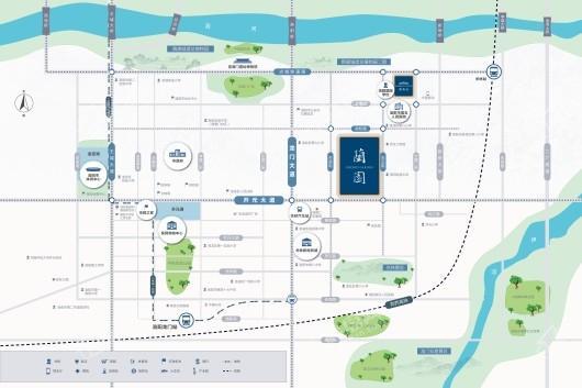 蓝城·蘭园交通图
