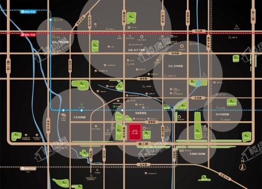 中房·卓越府交通图