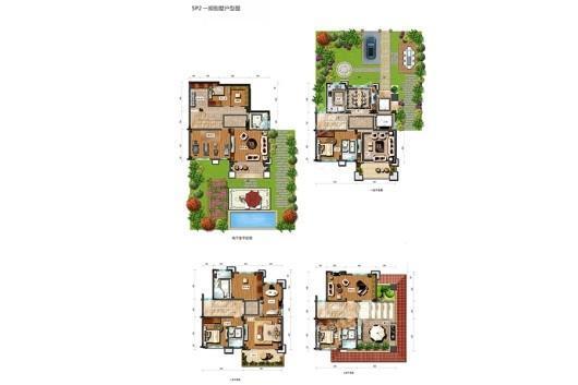 龙湖山庄天悦湾SP2一期别墅户型图 8室2厅1卫5厨
