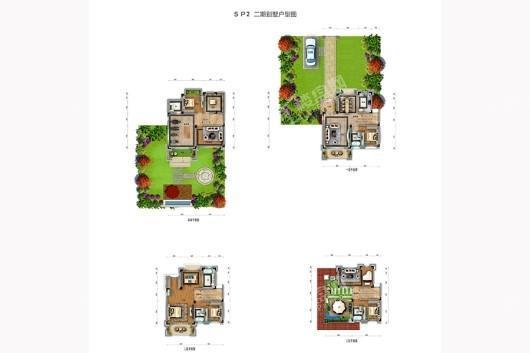 龙湖山庄天玺湾SP2二期别墅户型图 9室2厅5卫1厨