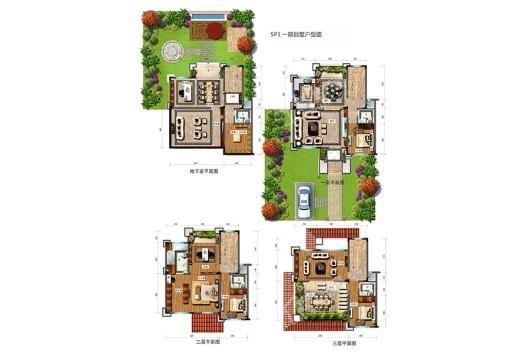 龙湖山庄天悦湾SP1一期别墅户型图 8室3厅1卫5厨