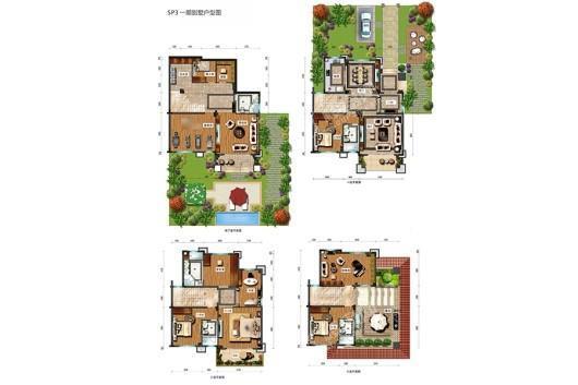 龙湖山庄天悦湾SP3一期别墅户型图 8室3厅1卫5厨