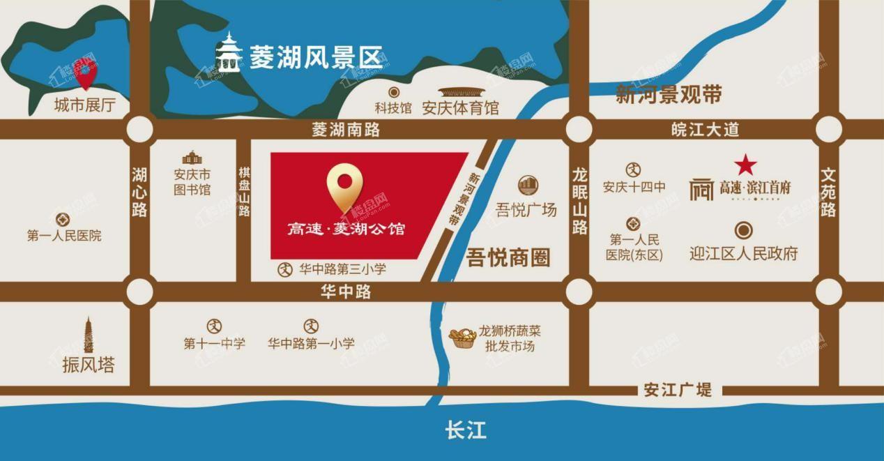高速·菱湖公馆位置图