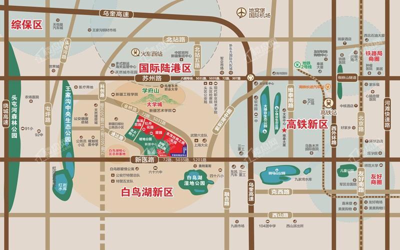 金茂丝路小镇海棠花园位置图