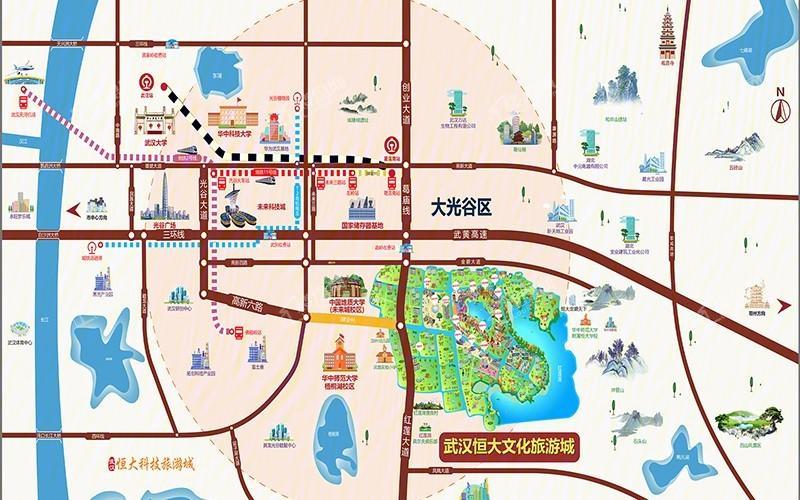 恒大文化旅游城位置图