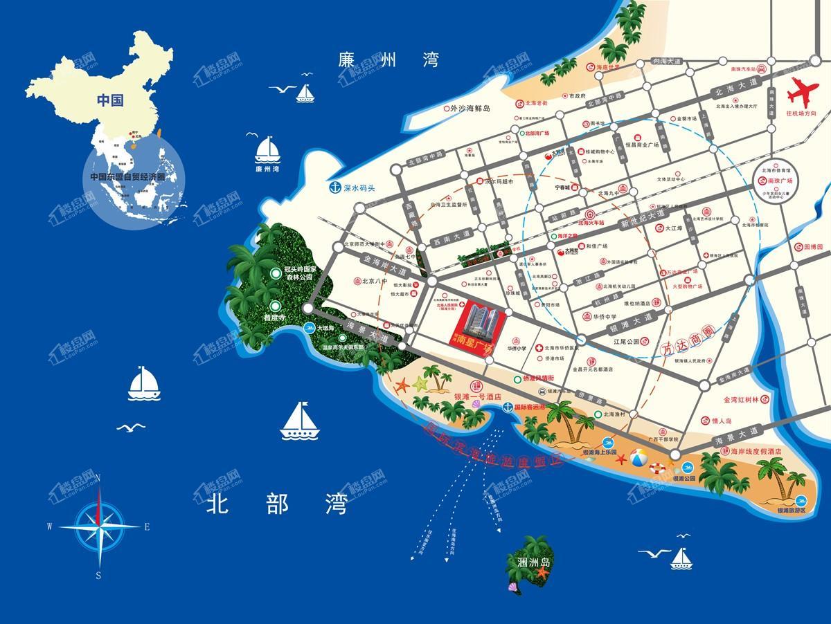 银滩南星广场区位图