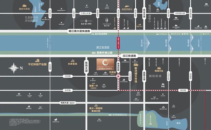 洪大新力合悦滨江位置图