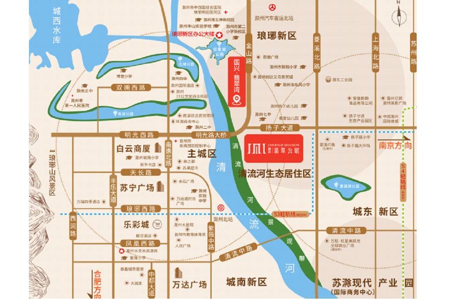 国兴翡翠公馆位置图