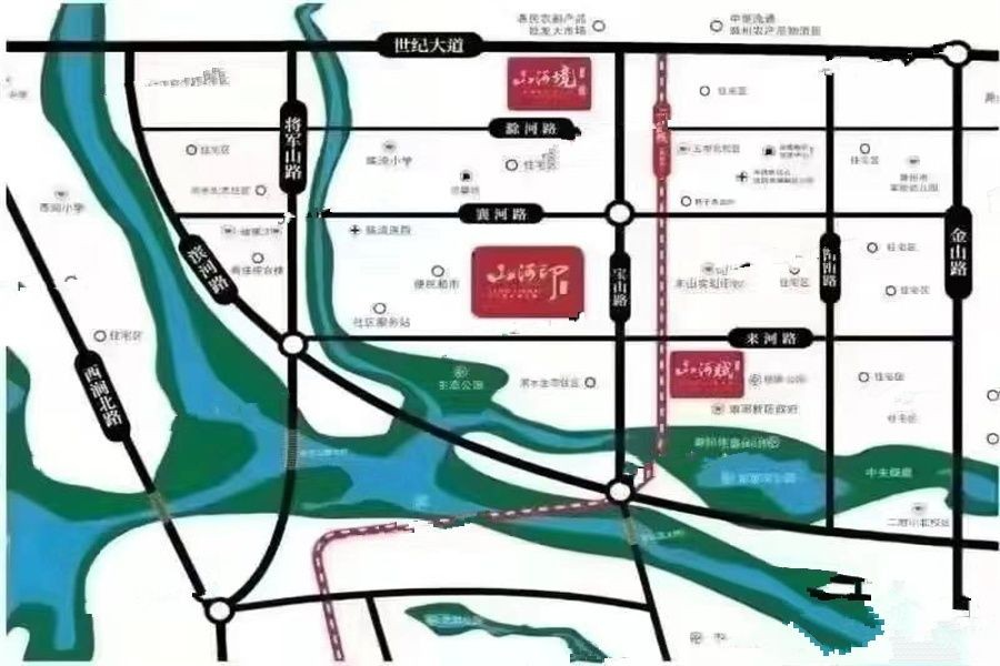 金鹏山河境位置图