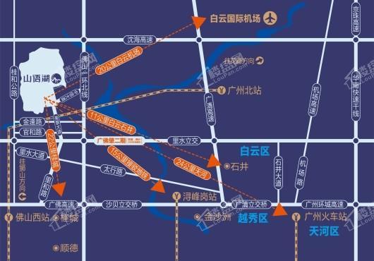 山语湖交通图