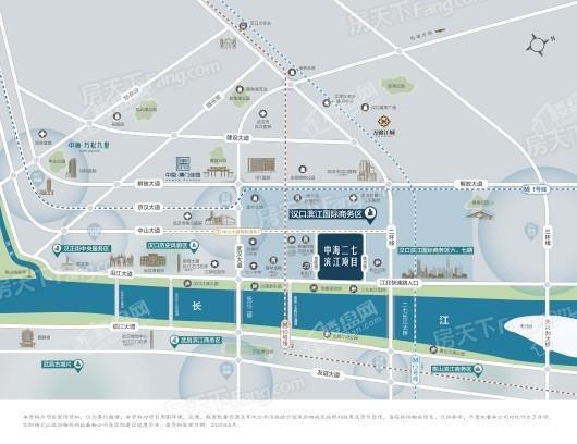 中海·二七滨江项目交通图