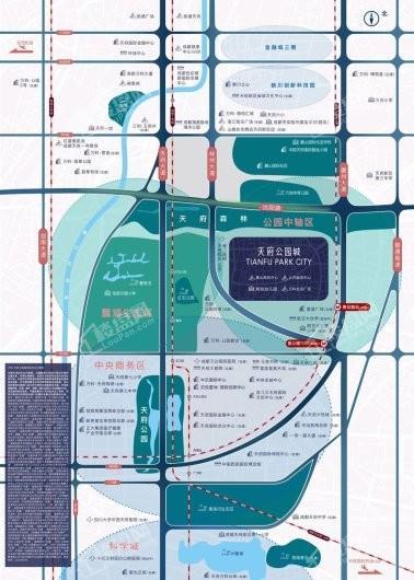 万科天府公园城项目交通图