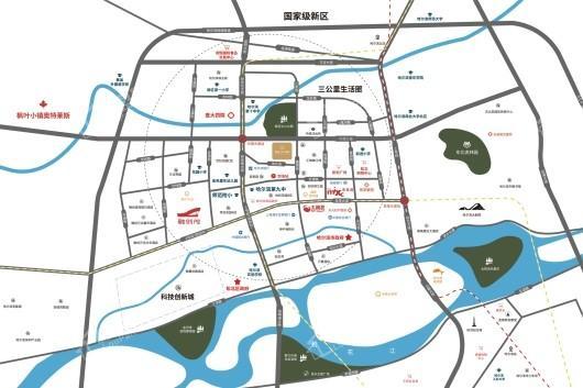 南益松江春晓交通图