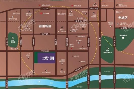 东豪紫园交通图