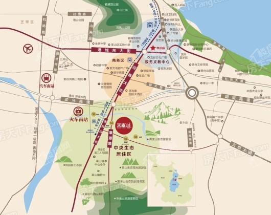 天泰城幸福里交通图