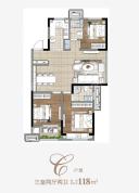 金地时代艺境118平三室两厅两卫