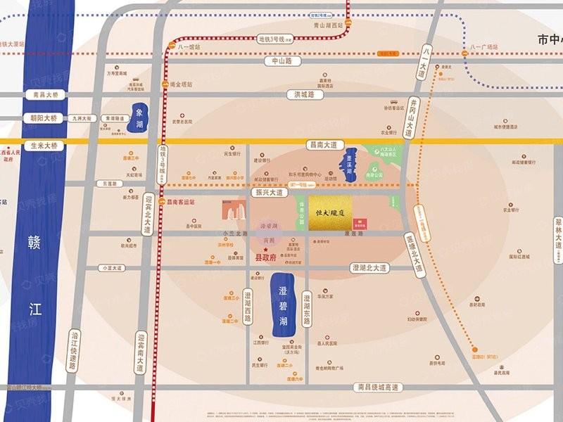 南昌恒大珺庭位置图
