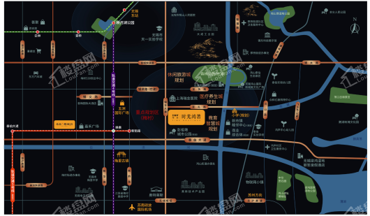 金融街路劲时光鸿著交通图