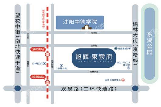 旭辉·東宸府交通图