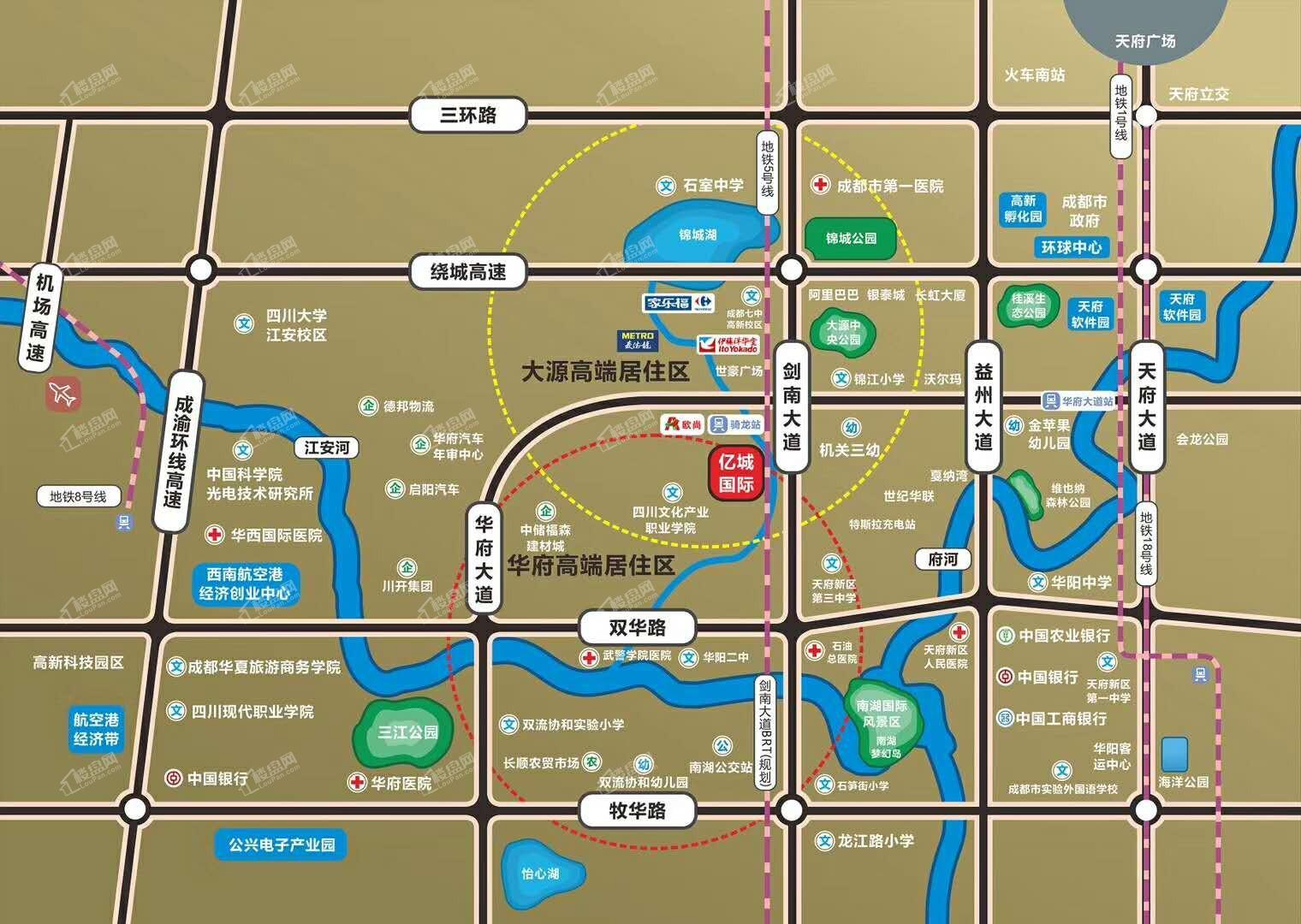 亿城国际位置图