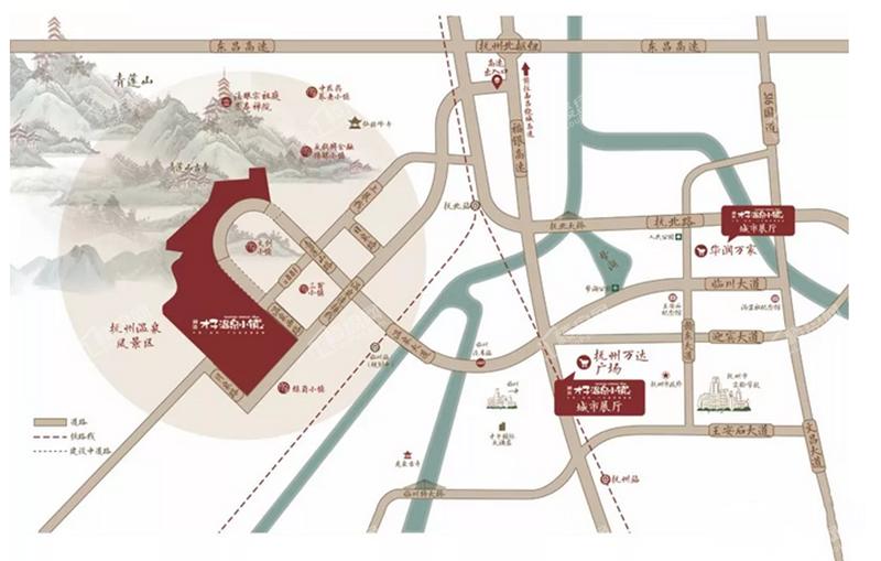 润达才子温泉小镇位置图