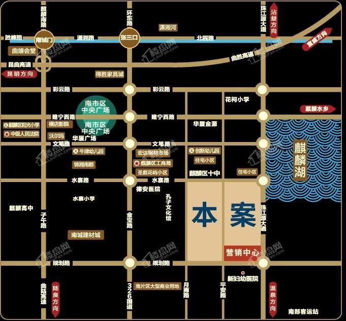 华厦润城位置图