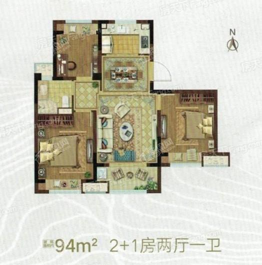 霞客岛生态城户型图