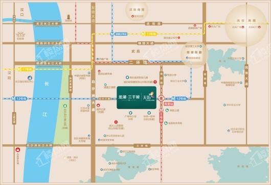 龙湖·三千城交通图