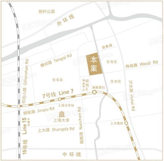 经纬紫荆谷家园交通图