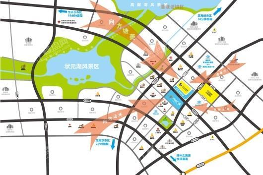 高邮万丰广场二期交通图
