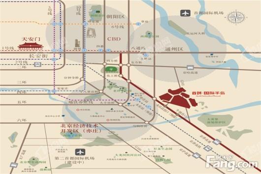 首创·新北京半岛|禧瑞琨庭交通图