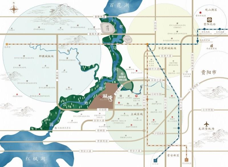益华湖湾位置图