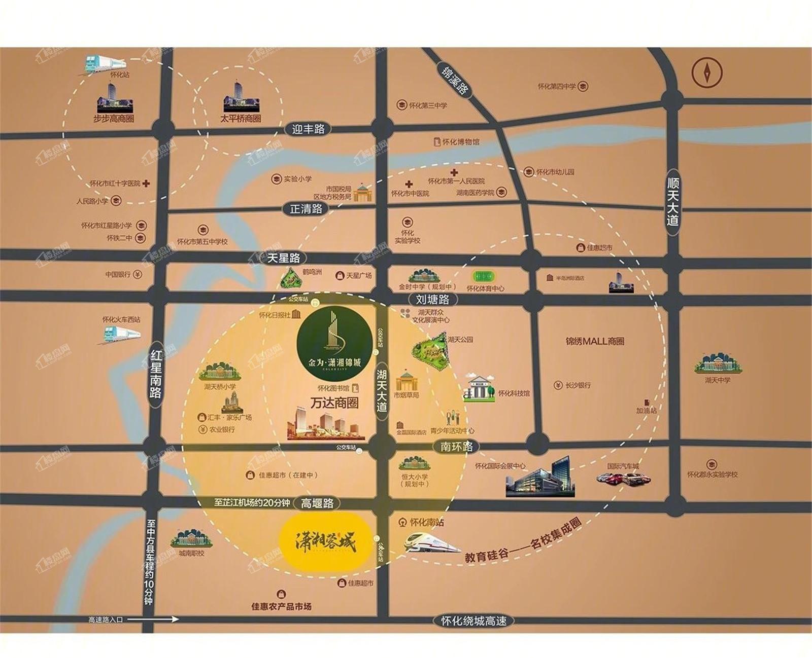金为潇湘锦城位置图